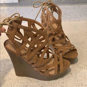 Brown Wedge Sandals